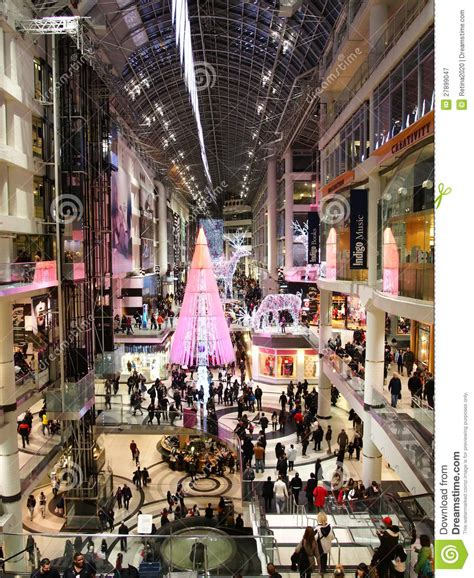 christmas season at toronto eaton centre editorial