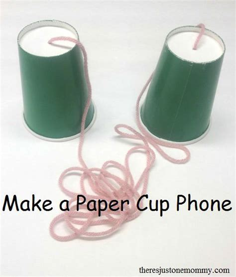Make A Paper Cup - make a paper cup phone science experiments cups and phone