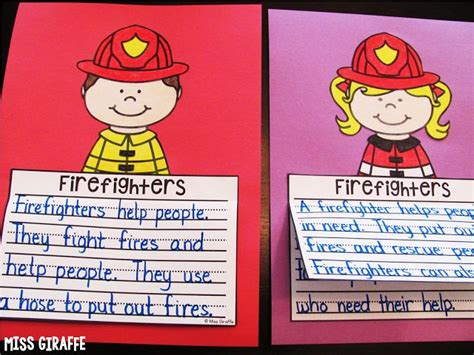 firefighter writing paper october writing crafts for firefighters for