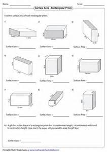 surface area nets worksheet worksheets for