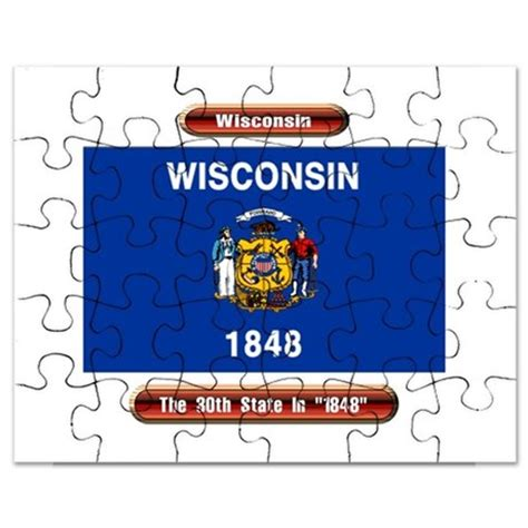 Wisconsin The 30th State by Wisconsin The 30th State Puzzle By Denisegonzalez