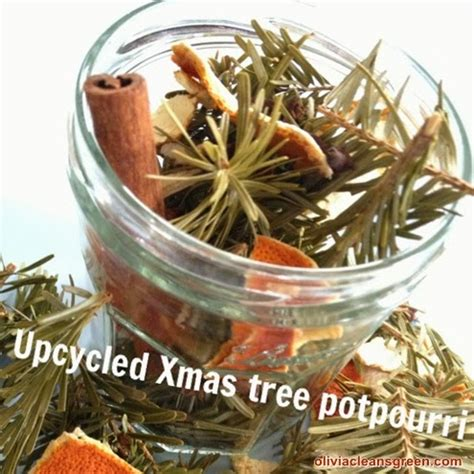 olivia cleans green diy upcycled christmas tree potpourri
