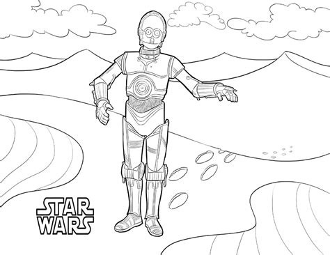 coloring pages c3po 50 top wars coloring pages free