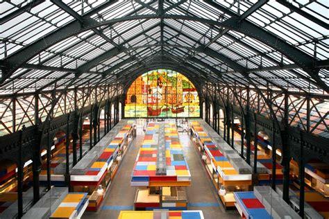 architecture of markets atarazanas market malaga food market building e architect