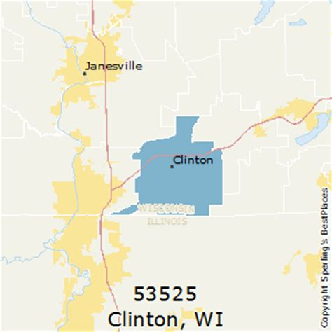 zip code map janesville wi best places to live in clinton zip 53525 wisconsin