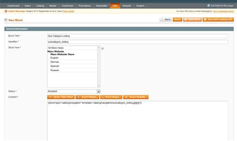 subcategory template magento listing sub categories on a category page
