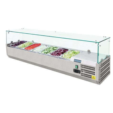 refrigerated bar top polar refrigerated counter top servery prep unit 7x 1 4gn