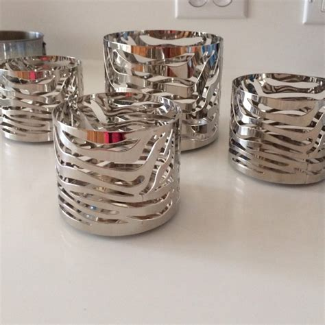 bathroom candles and accessories 29 off bath and body works accessories zebra design candle holders sleeves from