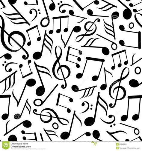 pattern of notes seamless pattern with music notes royalty free stock