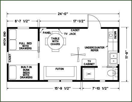 Floor Plans To Build A Home 12 X 24 Cabin Floor Plans Google Search Cabin Coolness