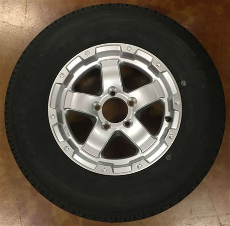 triton 09942 class c snowmobile trailer tires with aluminum rim pair st205 75 r14 triton 06193 class c trailer tire with