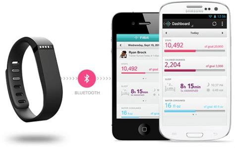 how to sync fitbit to android fitbit flex takes on jawbone up with bluetooth activity tracker slashgear