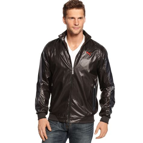 ferrari clothing men puma ferrari sf lightweight jacket in black for men lyst