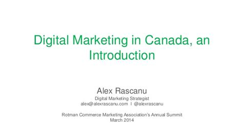 Mba In Digital Marketing In Canada by Digital Marketing In Canada An Introduction
