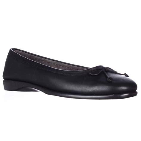 comfortable black ballet flats aerosoles teashop comfort ballet flats in black lyst