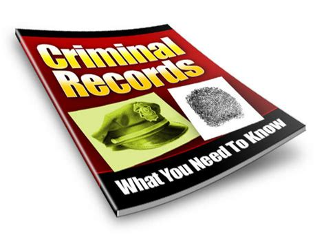 A Criminal Record And Need A Criminal Record What You Need To Audio Audio Books