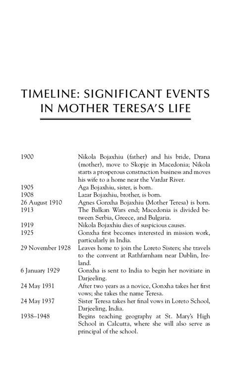 mother teresa timeline biography ebookprovider co cc mother teresa a biography