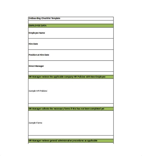 onboarding checklist template 15 free word excel pdf