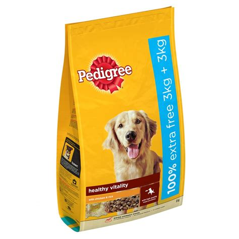 pedigree puppy food buy pedigree food chicken rice 3kg 3kg free
