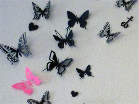 How To Make Paper Butterflies For Wall - wall decals 3d card paper butterflies wall scrap