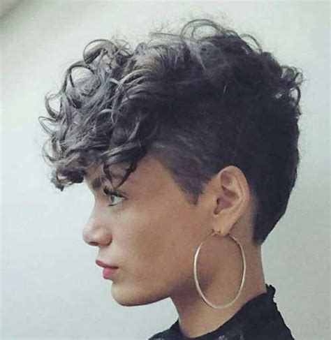 short hairhair straght on back curly on top 15 pixie cuts for curly hair short hairstyles 2016