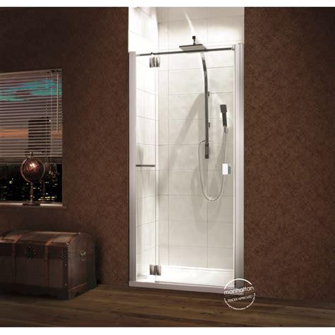 Manhattan Shower Doors Manhattan 8 Alcove Hinged Door Shower Enclosure Baker And Soars