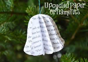 upcycled paper 3d christmas ornaments