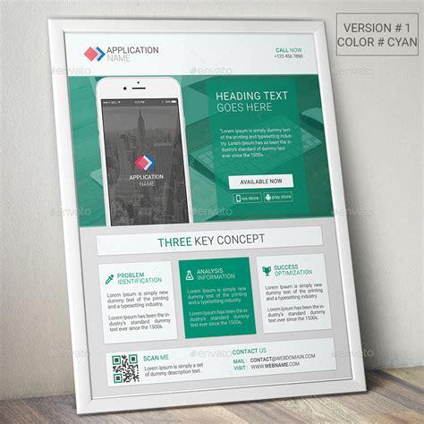 design flyer app material design mobile app promotional flyer by fayejkhan