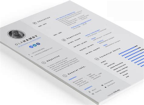 Simple One Page Resume Sample by 28 Free Cv Resume Templates Html Psd Amp Indesign Web