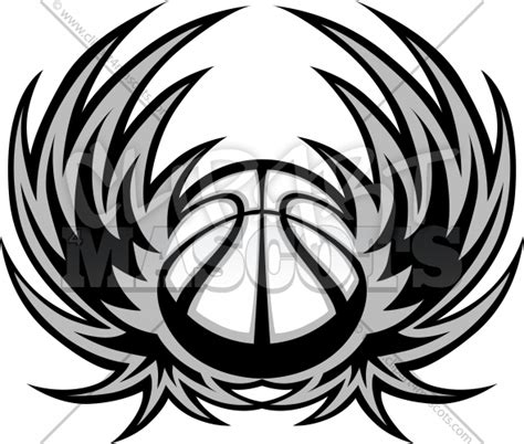 Basketball Template With Wings Graphic Vector Clipart Logo Basketball Logo Template Free