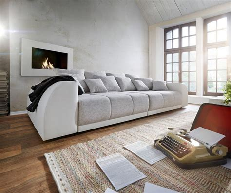 delife sofa delife bigsofa violetta creme hellgrau 310x135 otto