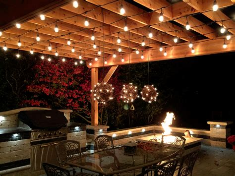 30 Cool Pergolas With Lights Pixelmari Com Outdoor Pergola Lighting Ideas