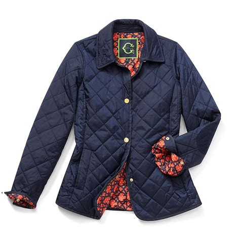 Quilted Barn Jacket by C Quilted Barn Jacket In Blue Navy Lyst