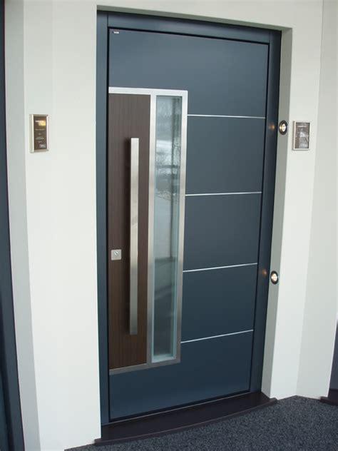 distinctive front doors on display modern front doors