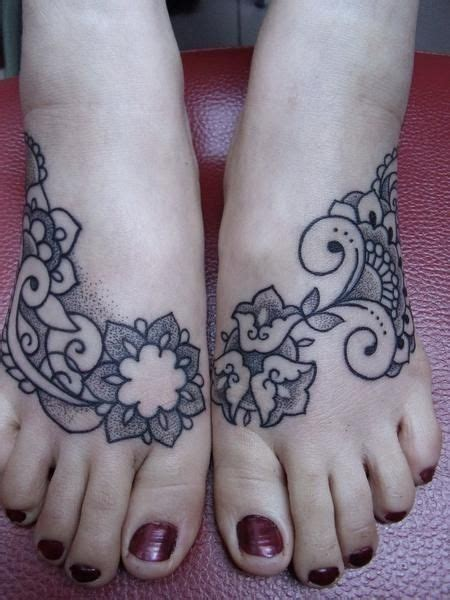 intricate tribal tattoos i intricate lace henna inspired tattoos with flowers