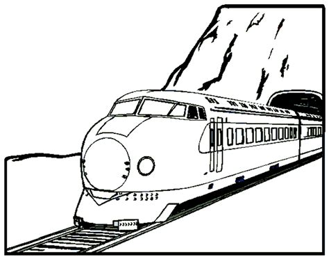 coloring page bullet train train coloring page train and locomotive online coloring