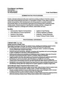 Administrative Resume Templates by Administrative Professional Resume Template Premium
