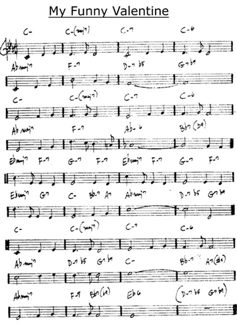 my funny valentine sheet music free valentines day