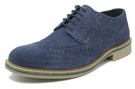 blue suede boots mens mens blue suede brogues shoes roamers navy lace up real