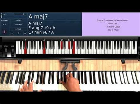 tutorial piano oceans sweet life by frank ocean piano tutorial youtube