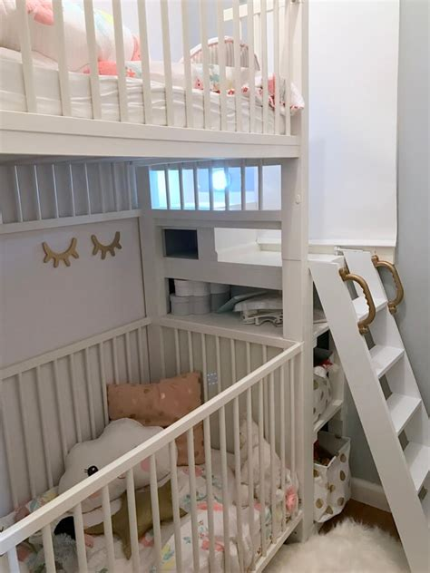 Bunk Bed With Crib On Bottom Crib Bunk Bed Hacked From Ikea Gulliver Cots Ikea Hackers Ikea Hackers