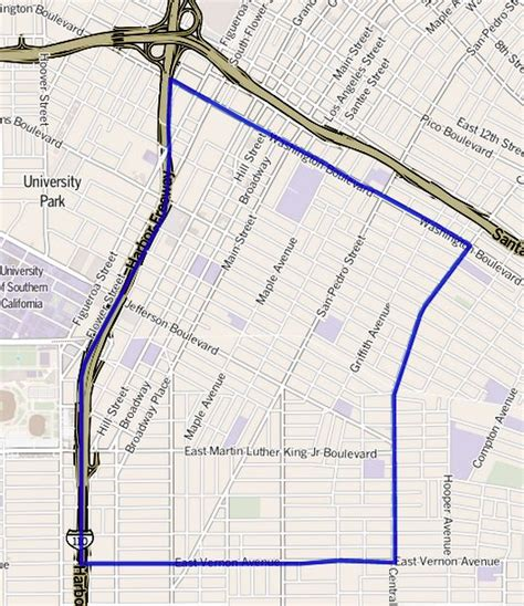 map of central neighborhoods file map of the historic south central neighborhood of los