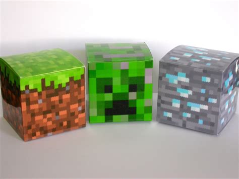 minecraft box minecraft inspired paper boxes by rockpaperneedles on