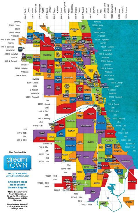 map of neighborhoods western suburbs of chicago map