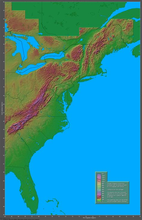 us east coast elevation map of us states and capitals printable maps update 851631 map