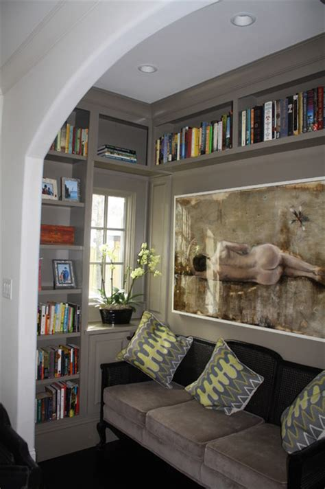 nook room cozy library nook eclectic living room charlotte by hardwood creations