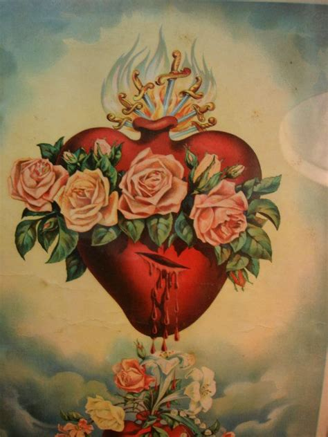 collection of 25 sacred heart tattoo