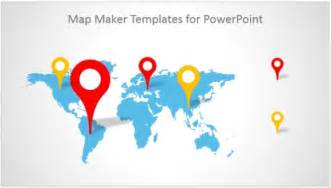 World Map Template For Powerpoint by Best Map Maker Templates For Powerpoint