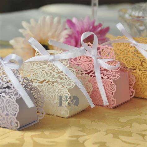 wholesale boxes wedding favor gift boxes with white ribbons ebay