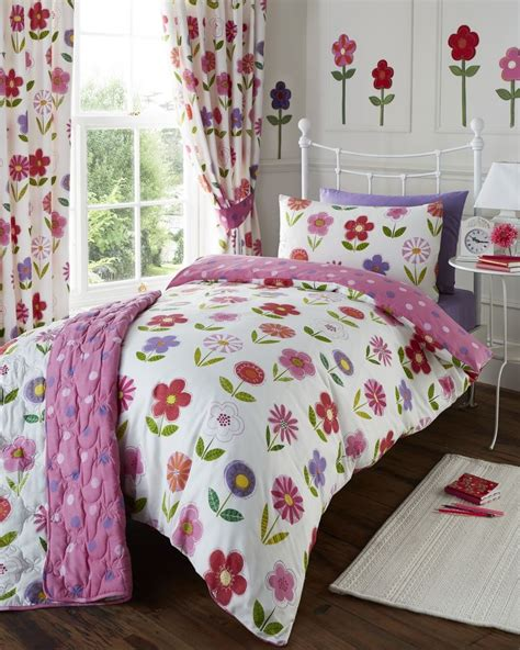 matching bedding and curtains sets girls childrens quilt duvet cover pillowcase bedding